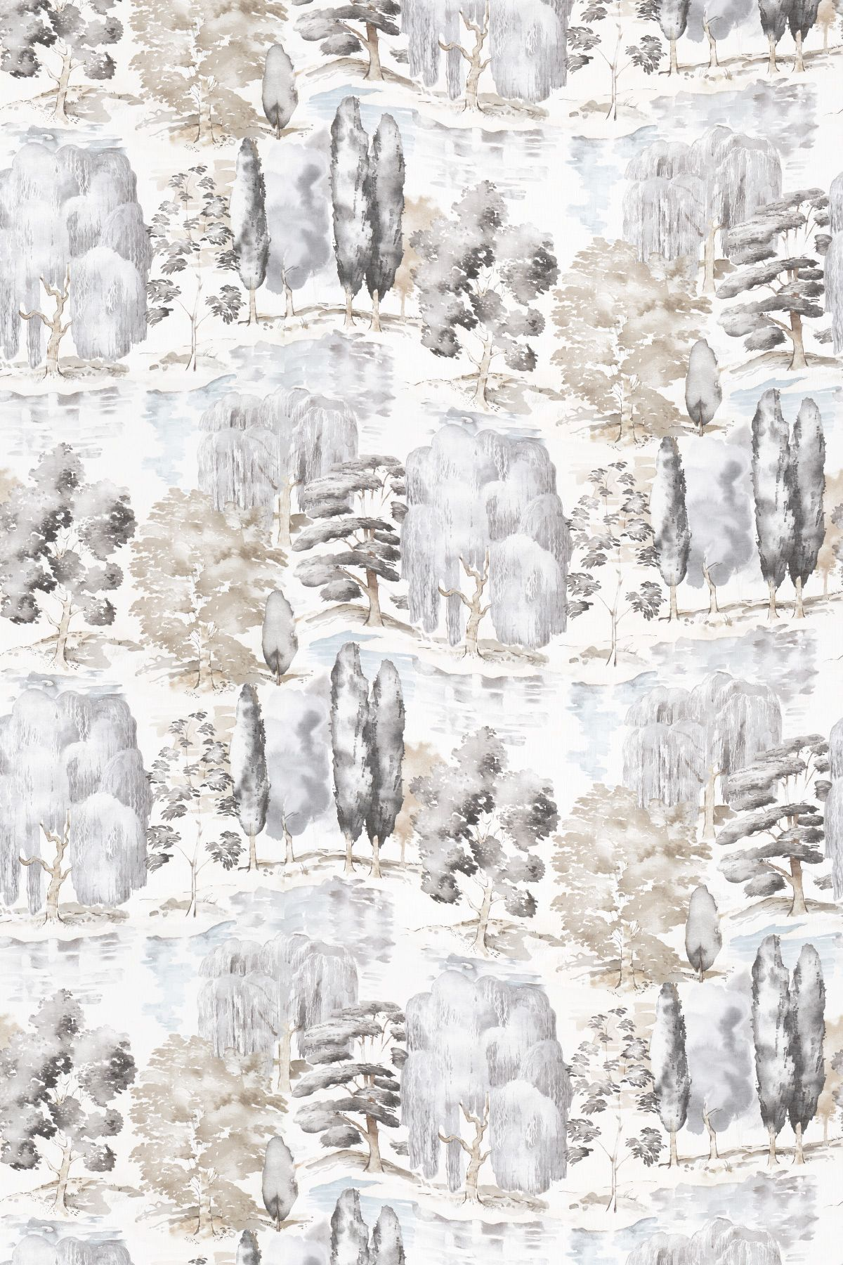 Waterperry Charcoal By Sanderson Fabric 226268 Grey Home
