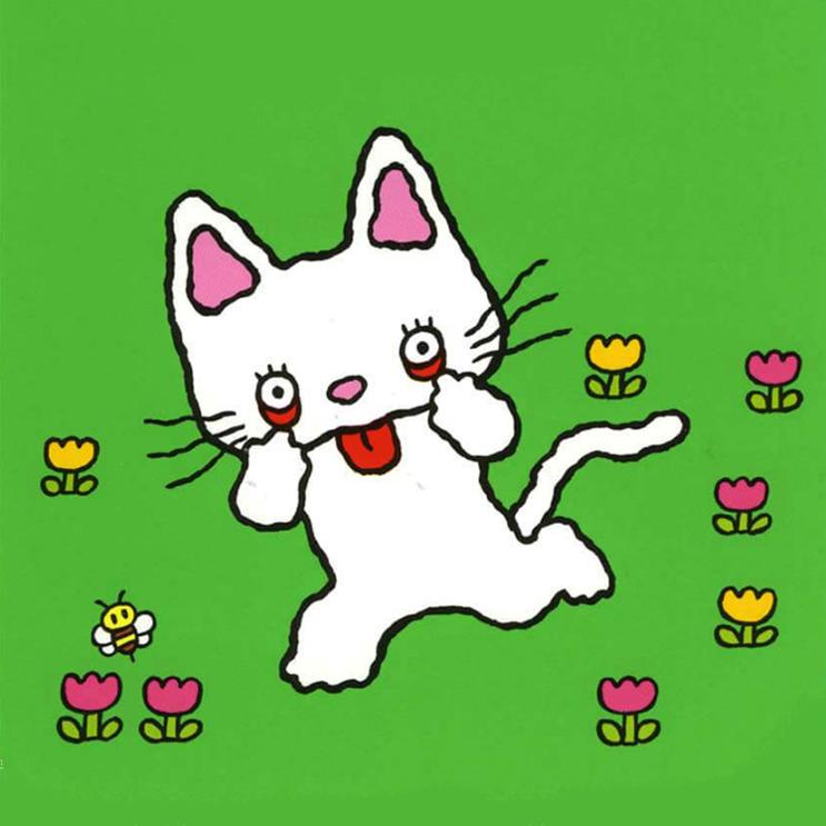 귀여운 아이폰 고양이 캐릭터 일러스트 배경화면