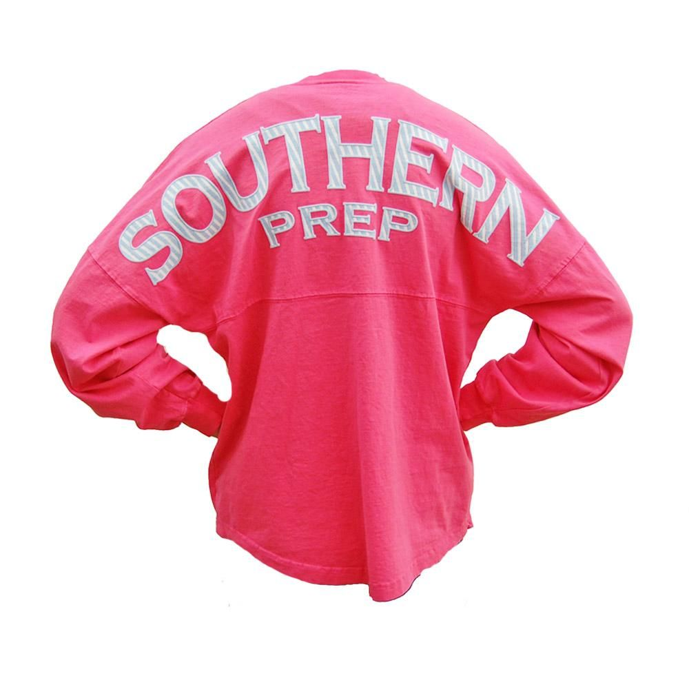 Palmetto Moon | Southern Prep Seersucker Long Sleeve Spirit Jersey | Palmetto Moon