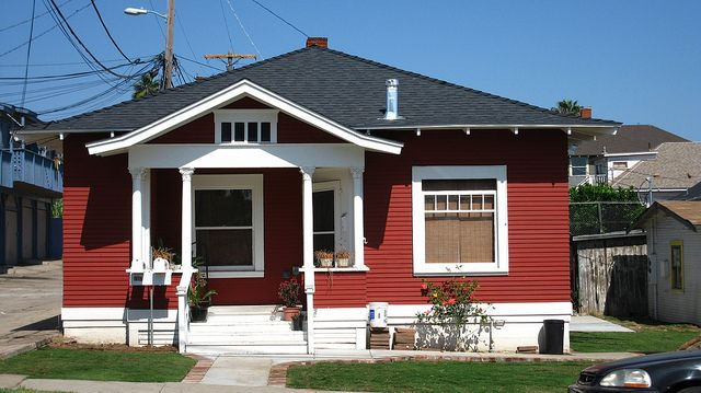 Red House With White Trim Red House House Small House