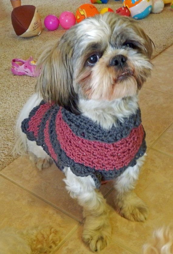 Hand Crocheted Dog Sweater Saving Graces by AnnaBelaArtistry ...