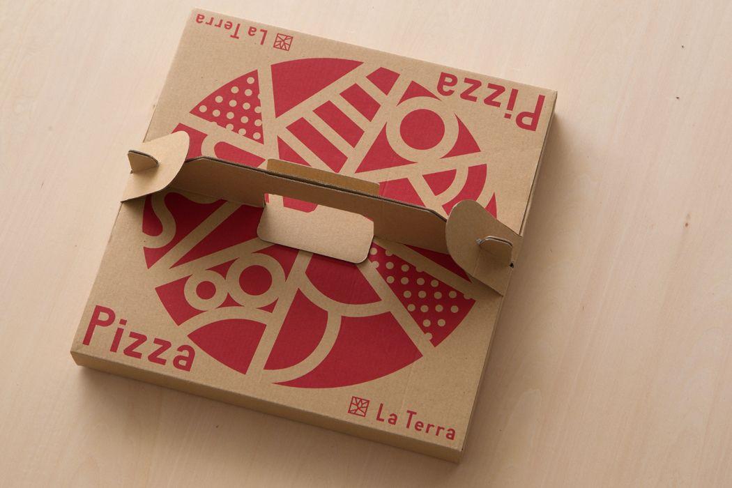 la terra pizza box tetusin design office design pinterest. Black Bedroom Furniture Sets. Home Design Ideas