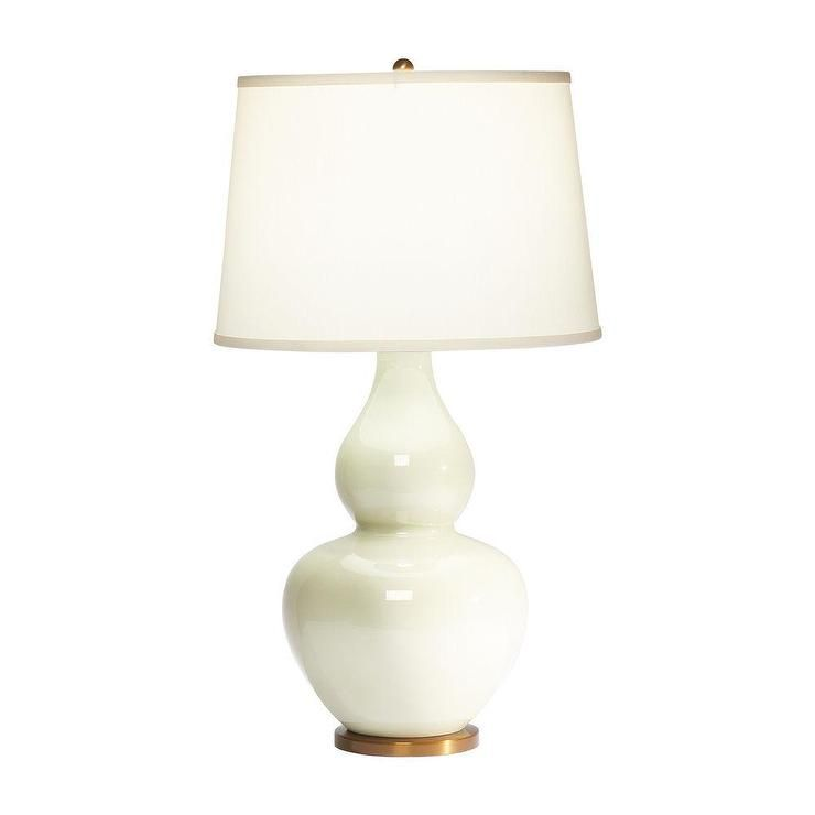 Diana Celery Gourd White And Brass Table Lamp