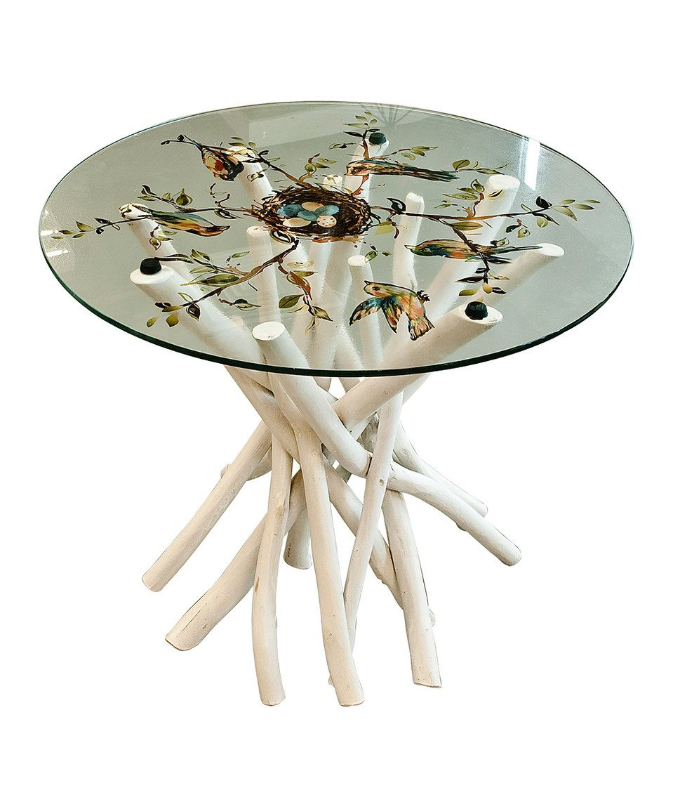 Bird Nest Glass Top Table By Established
