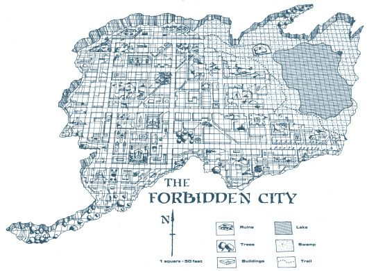 Dwellers In The Forbidden City The City Map Map Fantasy Map Dungeon Maps