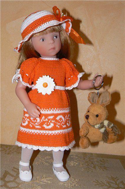 Яркое платьице с панамкой) для кукол 30-35 см / Одежда для кукол / Шопик. Продать купить куклу / Бэйбики. Куклы фото. Одежда для кукол ☆