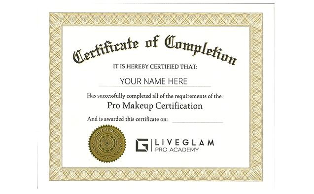LiveGlam online classes a certified makeup artist