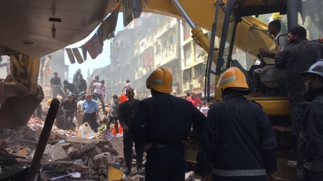 Seven Persons Killed After Building Collapse In India Collapse Seventh Mumbai