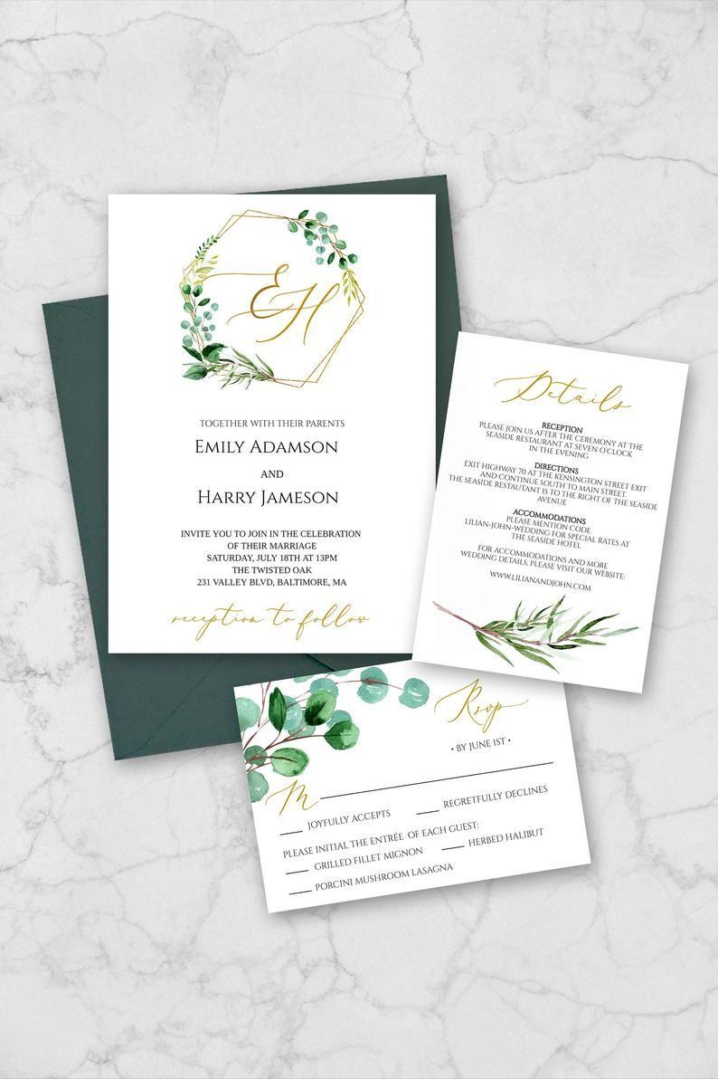 29++ Wedding invitation greenery template ideas in 2021