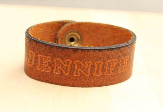 Leather Name Bracelet - Jennifer | Products | Name bracelet