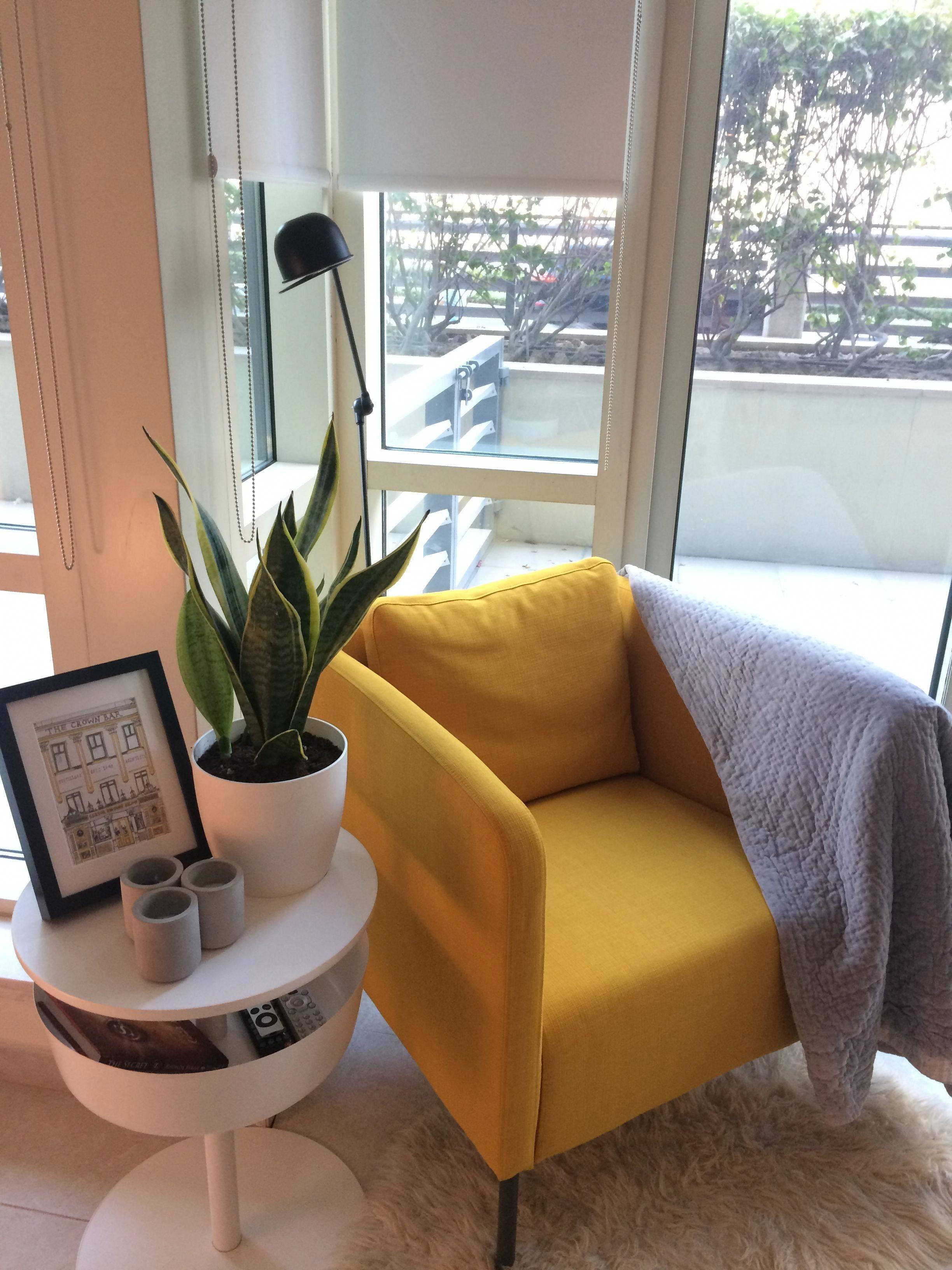 Yellow armchair vibe. Ekerö IKEA armchair. in 2019 | Ikea ...