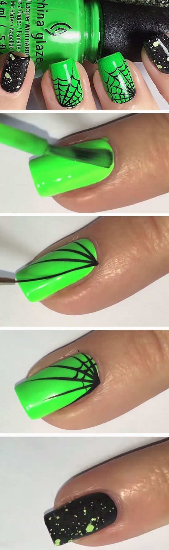 26 Easy Halloween Nail Art Ideas for Teens | Diseños de uñas ...
