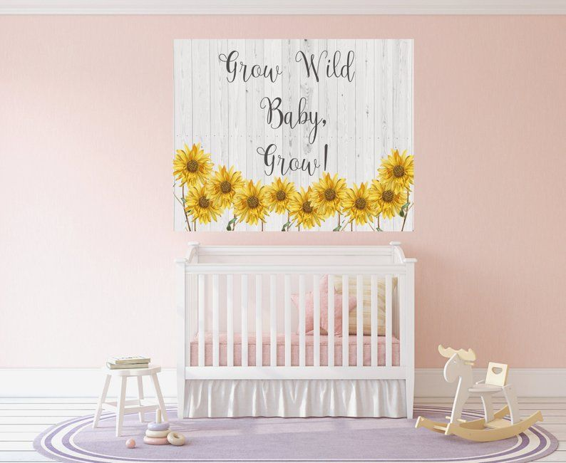 Sunflower Nursery Baby Art Print