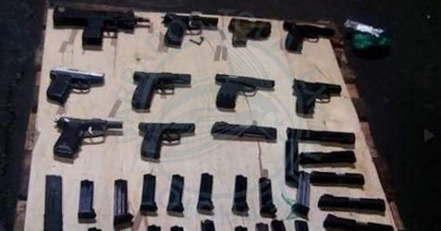 JAMAICA - Sixteen more firearms seized at Kingston port