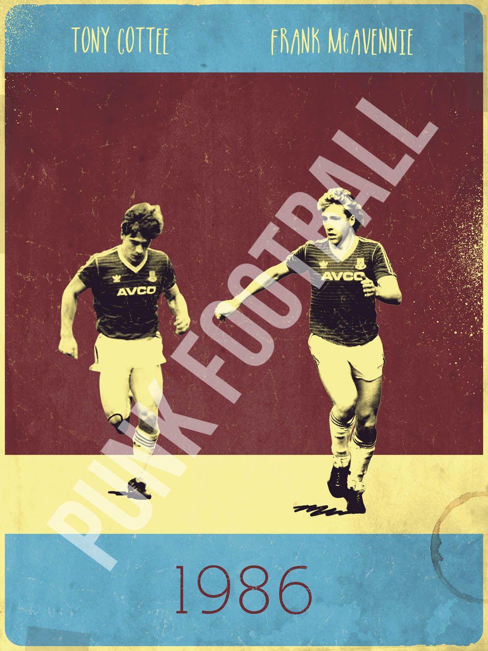 Frank McAvennie & Tony Cottee Vintage Poster (West Ham United)