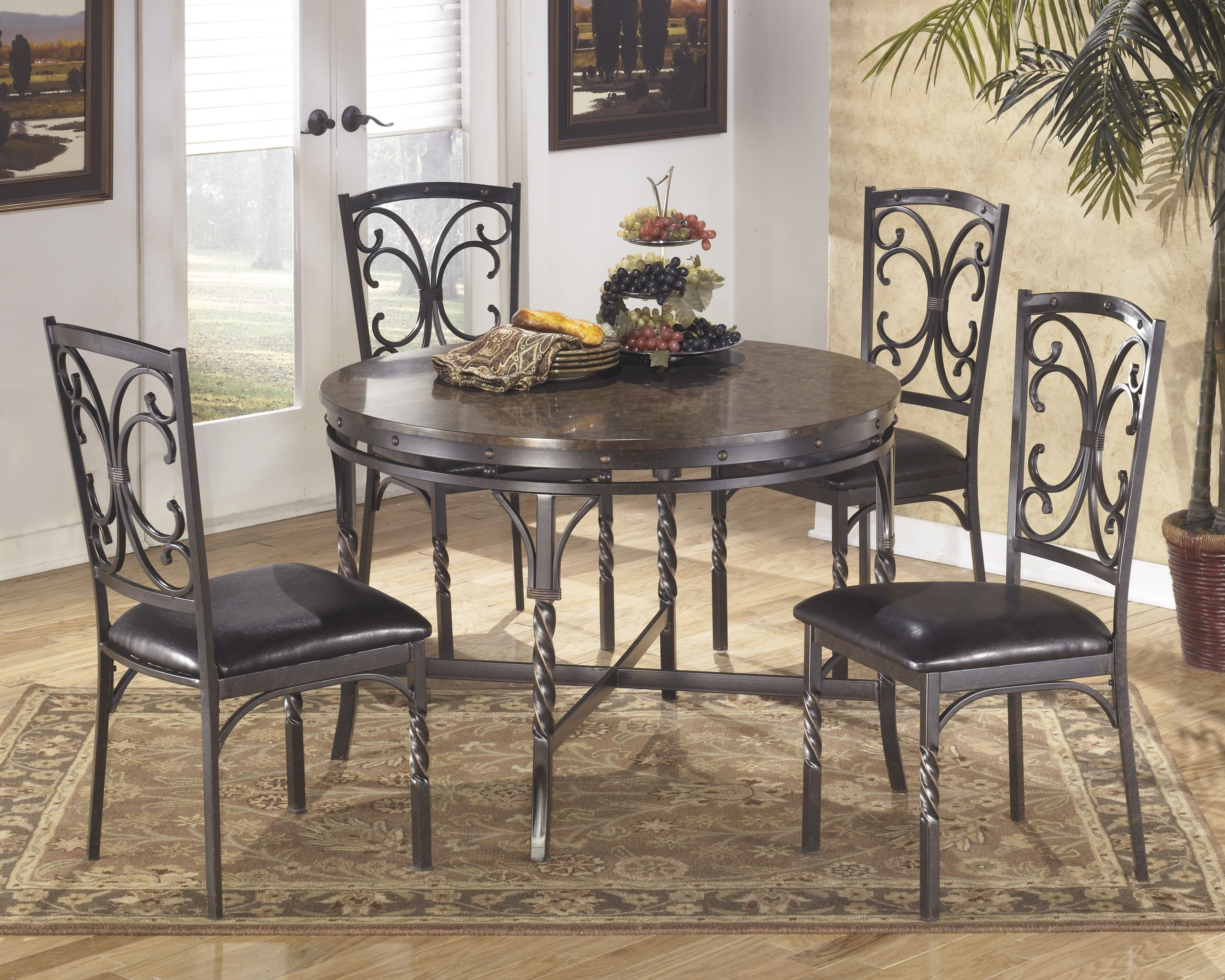 5-Piece dinette set under $500 @Evansfurn & 5-Piece dinette set under $500 @Evansfurn | Our Showroom | Pinterest ...