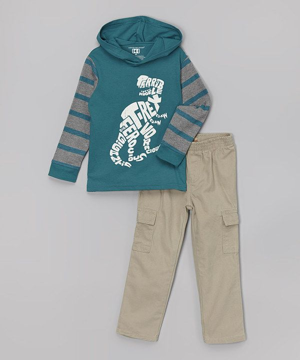 Look at this Dino Hooded Layered Tee & Pants - Infant on #zulily today!