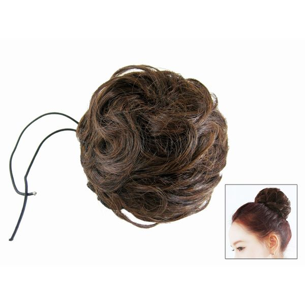 Bun Based Chignon Updo w Drawstring Pageant Hairpiece