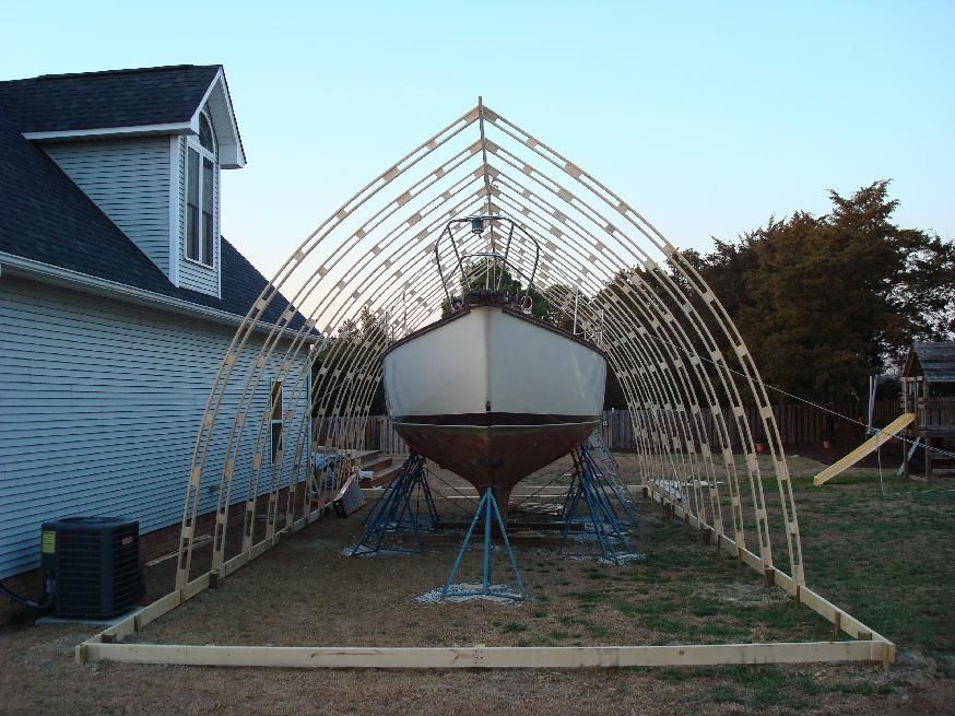 The Bow Roof Shed Made Of White Pine And Greenhouse