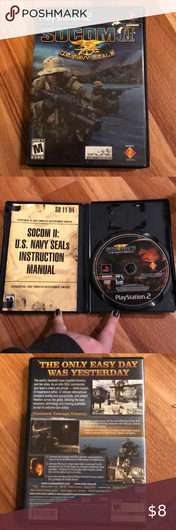 Used II US Navy Seals PS2 Game in 2020 First