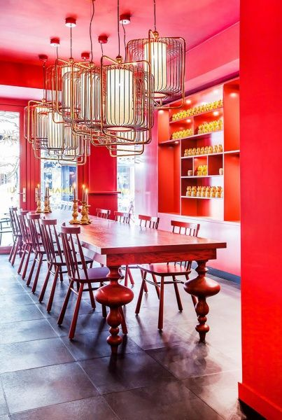 A stunning, bold Asian restaurant in Eindhoven, featuring our Jules suspension lamps. #utulamps #asian #restaurant #jules #suspension #lamps #lighting #red #mood #oriental #design #furnituredesign #furniture #interiordesign #design #interior #homedecor #architecture #decor #interiors #home #homedesign #designer #interiordesigner #woodworking #luxury #livingroom #sofa #furniturejepara #decoration #handmade #furniturejakarta #wood #furnituremurah #m #luxuryfurniture #art #inspiration #chair