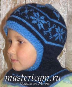 Мастер класс по вязанию шапки спицами детям