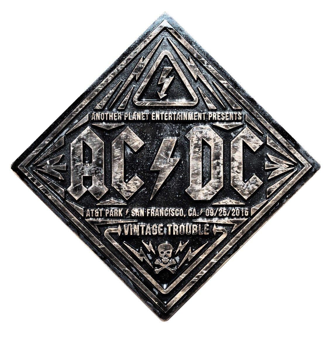 Gig Poster for AC/CD in San Francisco. Bronze cast design inspired ...