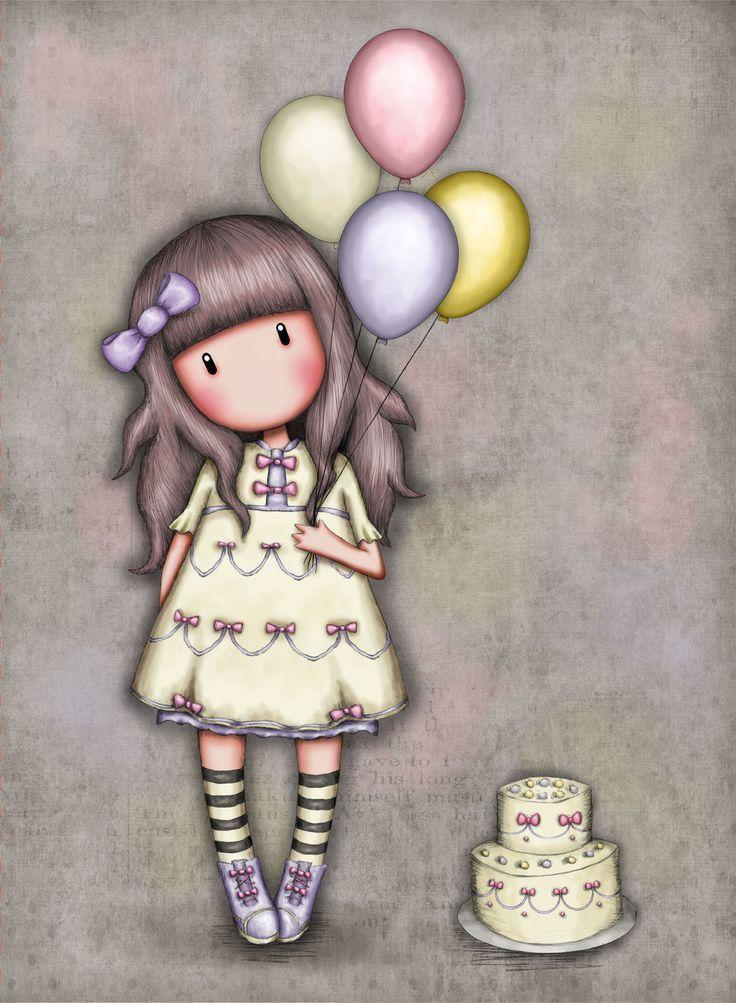 Nuevo Diseño Tarjeta De Felicitación Santoro Gorjuss Deseo Es324 5018997753248 Mi Muñecas Bonitas Muñecas Caricatura Dibujos Bonitos