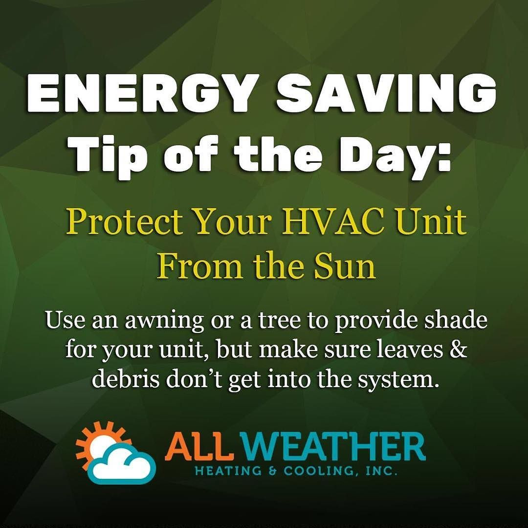 Hvac Tipoftheday Shade Your Ac Unit From The Sun With Trees Or An