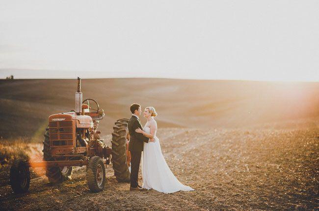 Washington Wheat Field Wedding