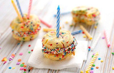 Baby birthday cake cookies by Spearmint Baby