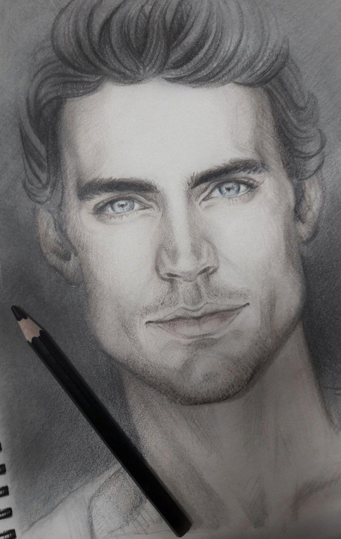 Beautiful Matt Bomer Male Face Drawing Wallpaper Matt Bomer