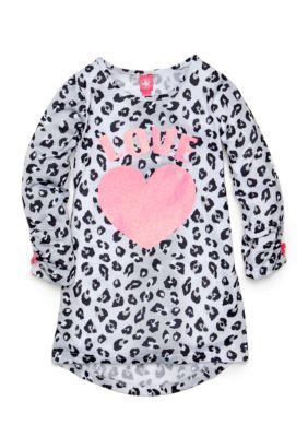 J Khaki   Love Leopard Heart Gown Girls 4-16
