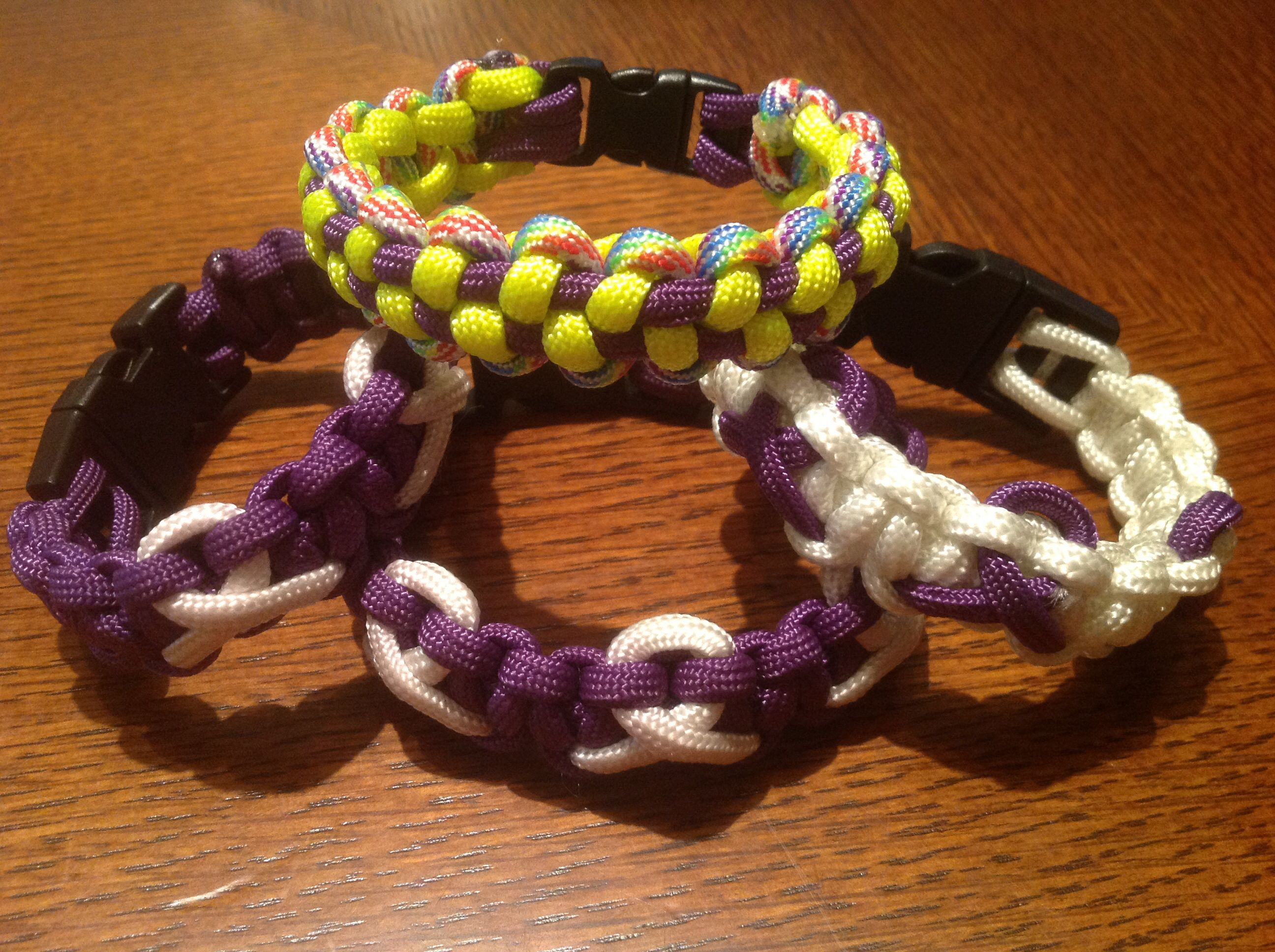 img grey jewelry survival s products ribbon paracord awareness black purple bracelet alzheimer