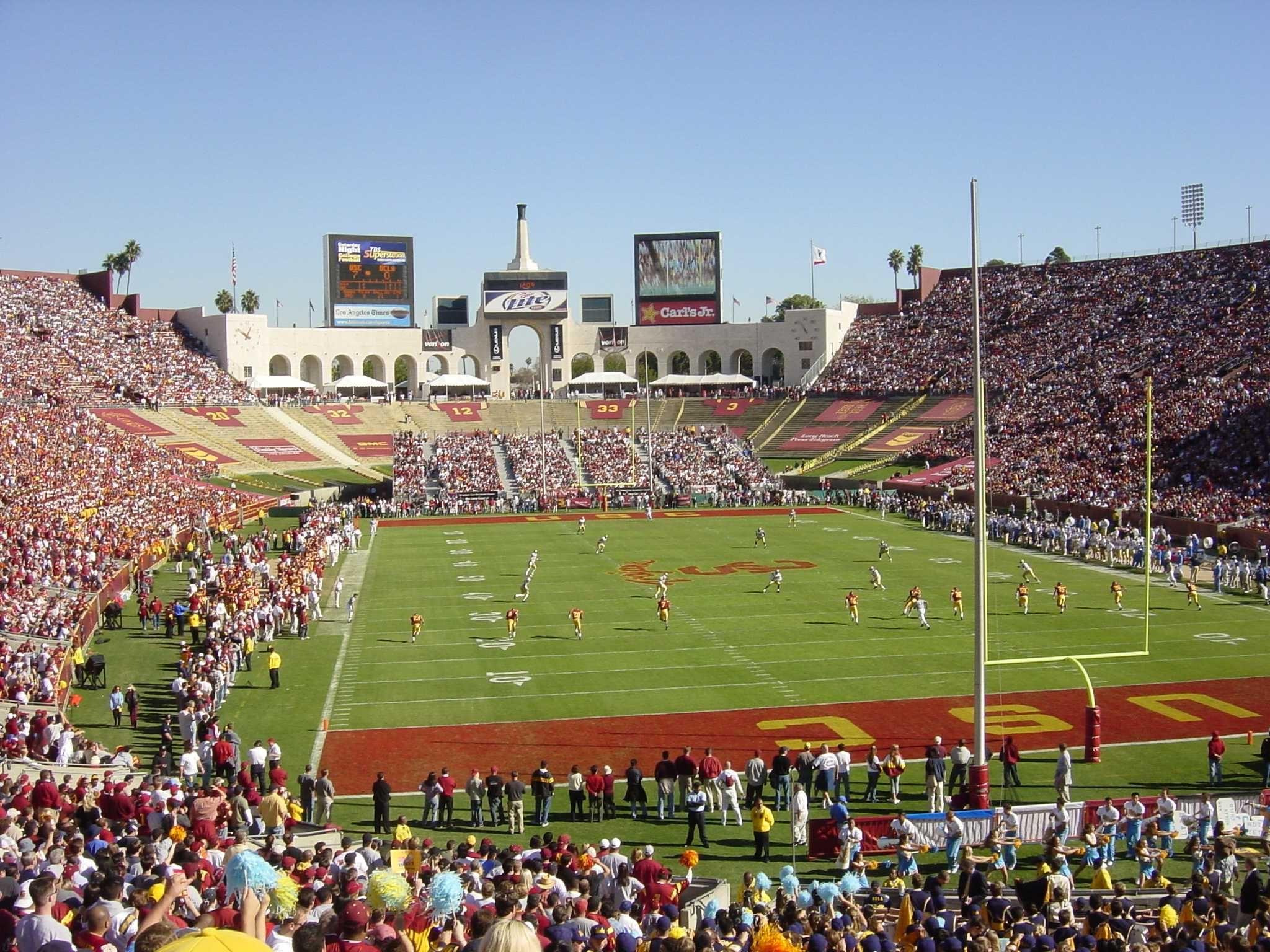 Usc Colliseum Homecoming Games University Of Southern California Usc