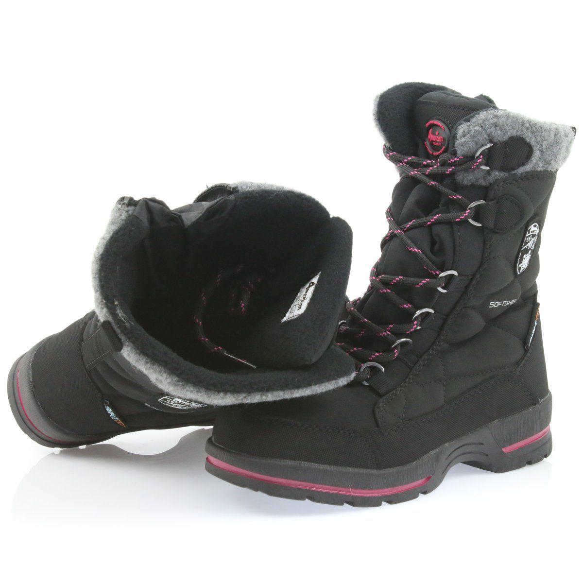 American Club Sniegowce Softshell Z Membrana American Sn19 20 Czarne Rozowe Szare Boots Shoes Winter Boot