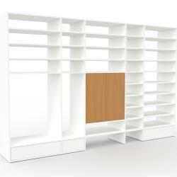 Photo of Regalsystem Weiß – Regalsystem: Schubladen in Weiß & Türen in Eiche – Hochwertige Materialien – 303