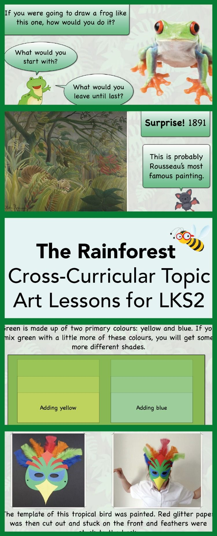 The Rainforest All ART Lessons in Topic Art lessons