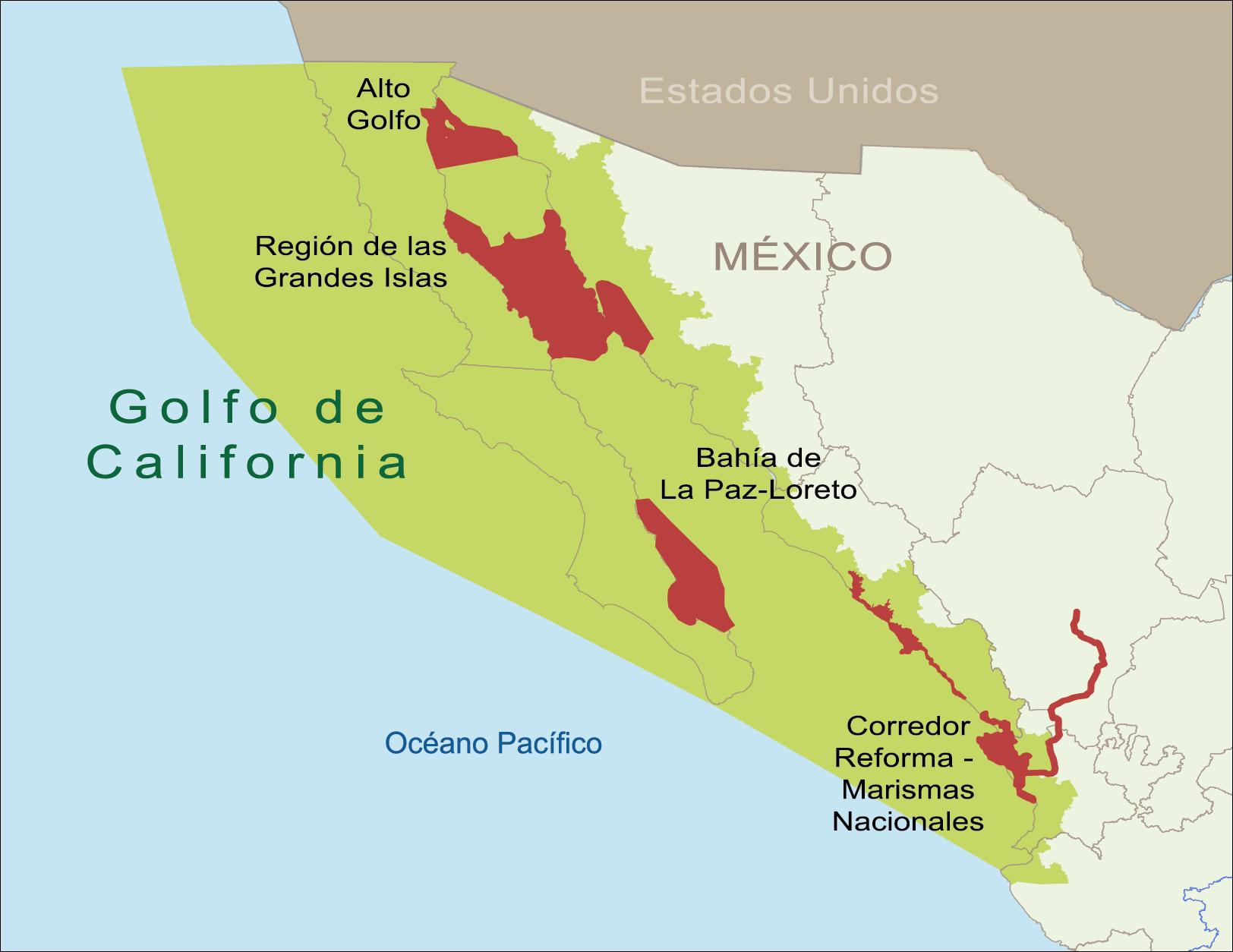 Mapa Do Golfo Da Califórnia Oceanos E Mares Pinterest - Mapa de california