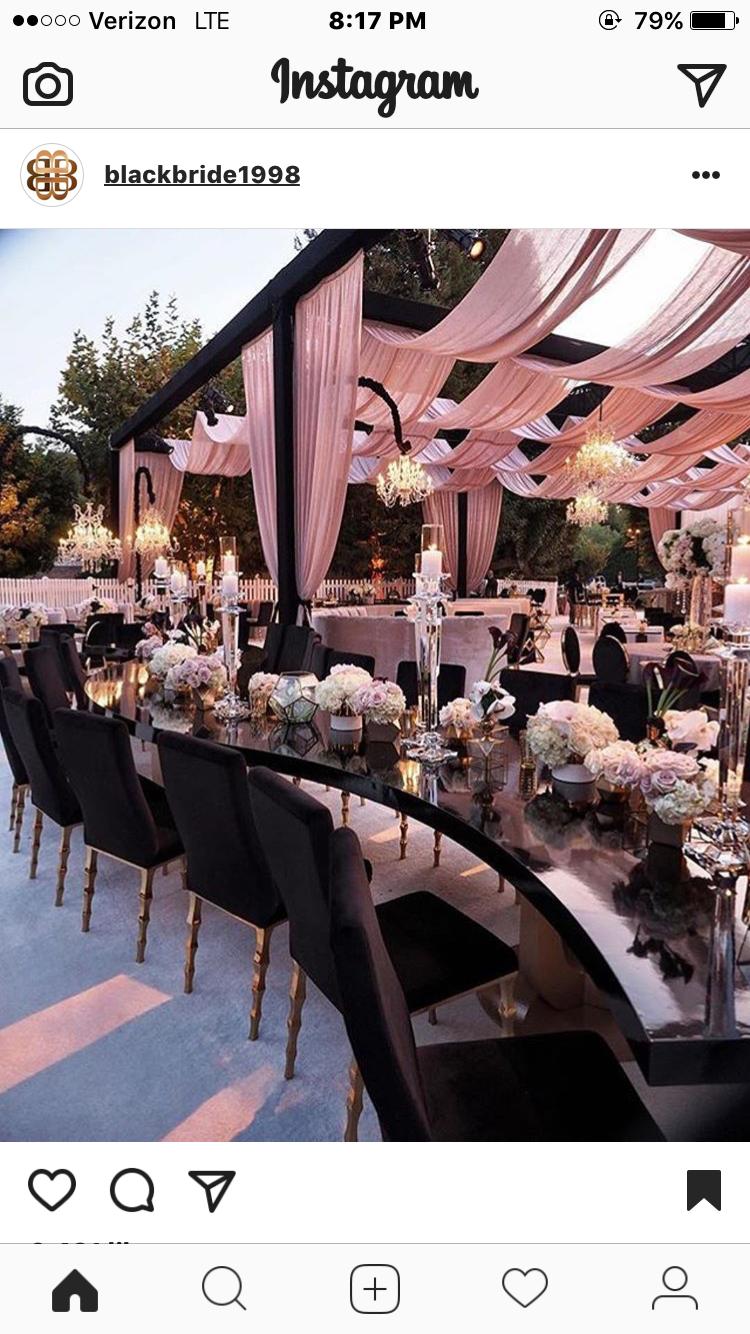 Black on black wedding decor  нσυѕтσиqυєєивяι  dreams  Pinterest  Wedding Weddings