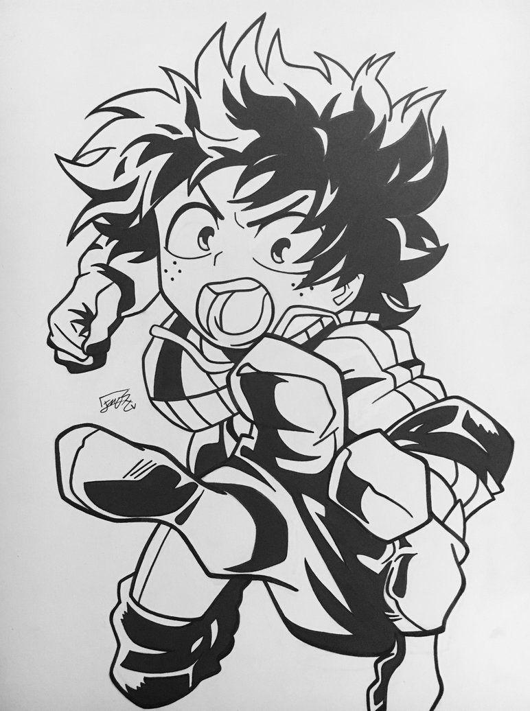 Deku Izuku Midoriya By Stephaniessf Deviantart Com On Deviantart Drawings My Hero Academia Cute Drawings