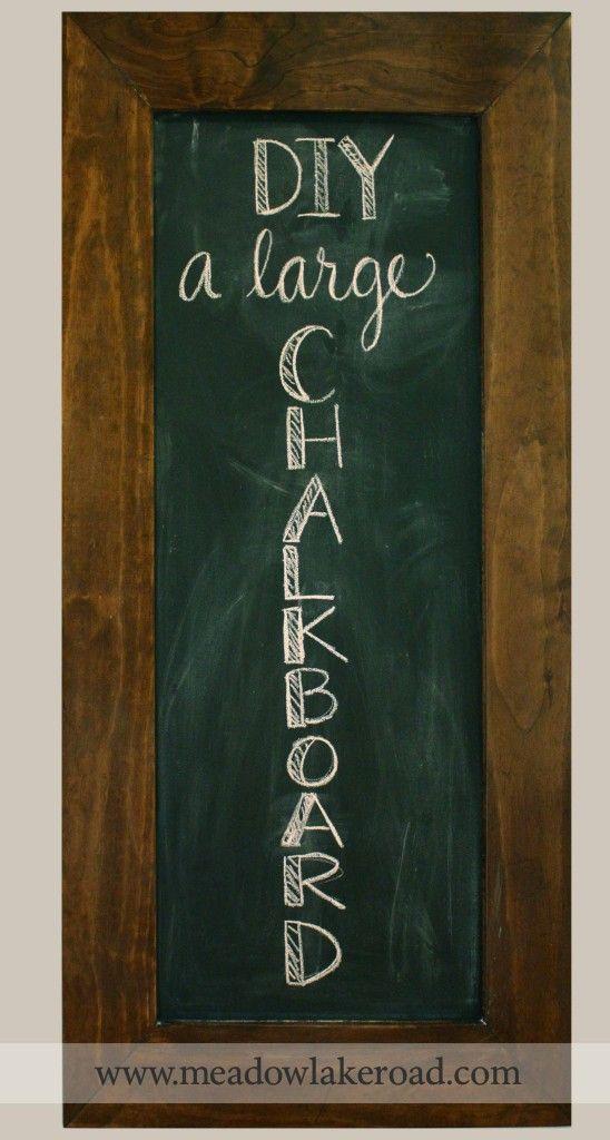 diy large framed chalkboard wwwmeadowlakeroadcom - Diy Framed Chalkboard