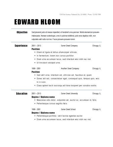 Resume Templates Louis Pinterest Resume format - Simple Format For Resume
