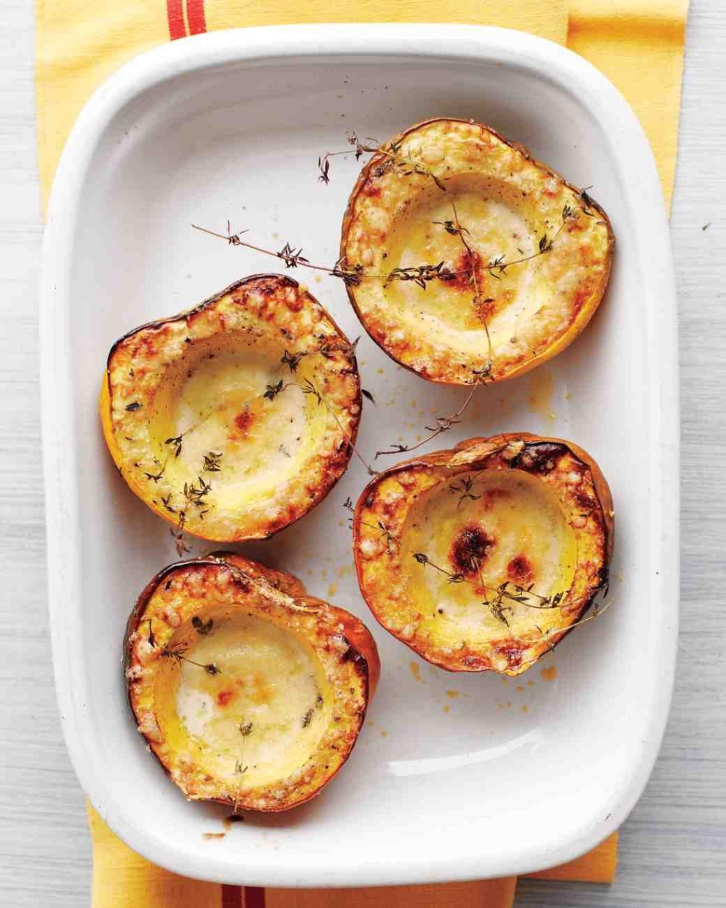 Creamy Baked Acorn Squash Recipe With Images Acorn Squash