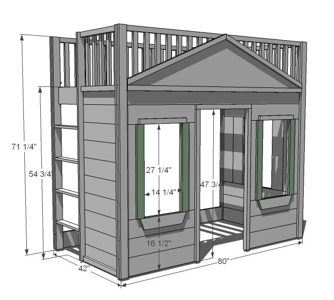 Best Little Cottage Loft Bed Loft Bed Plans Build A Loft Bed 400 x 300