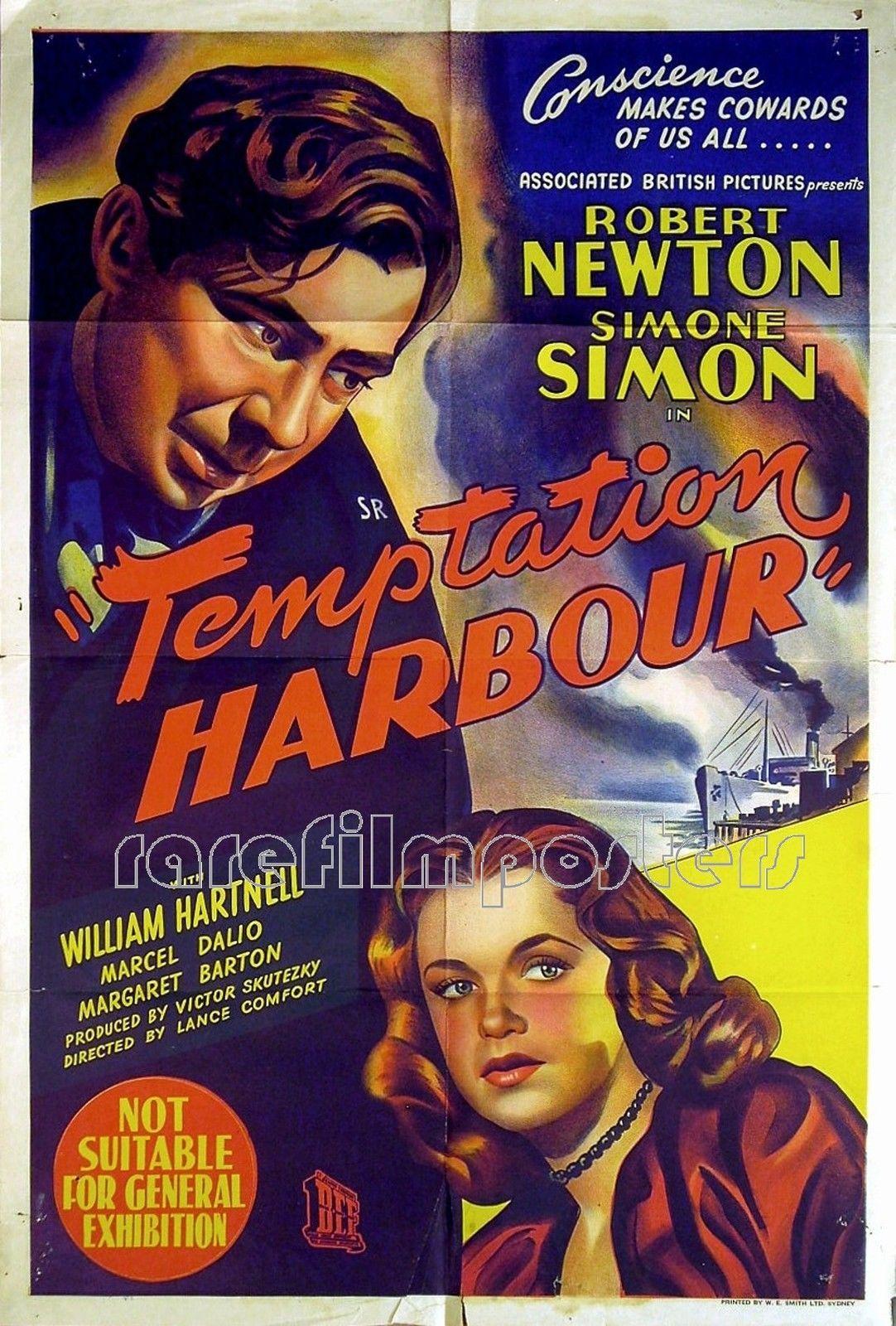 e4e1e73ddff4f Details about TEMPTATION HARBOUR 1947 Robert Newton