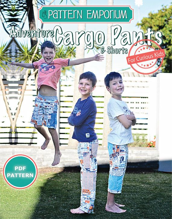 Pattern Boys Adventure Cargo Pants Shorts Pdf Sewing Pattern