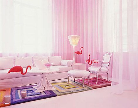 Pink interior - looks like the flamingos are cleaning up | Pretty in ...