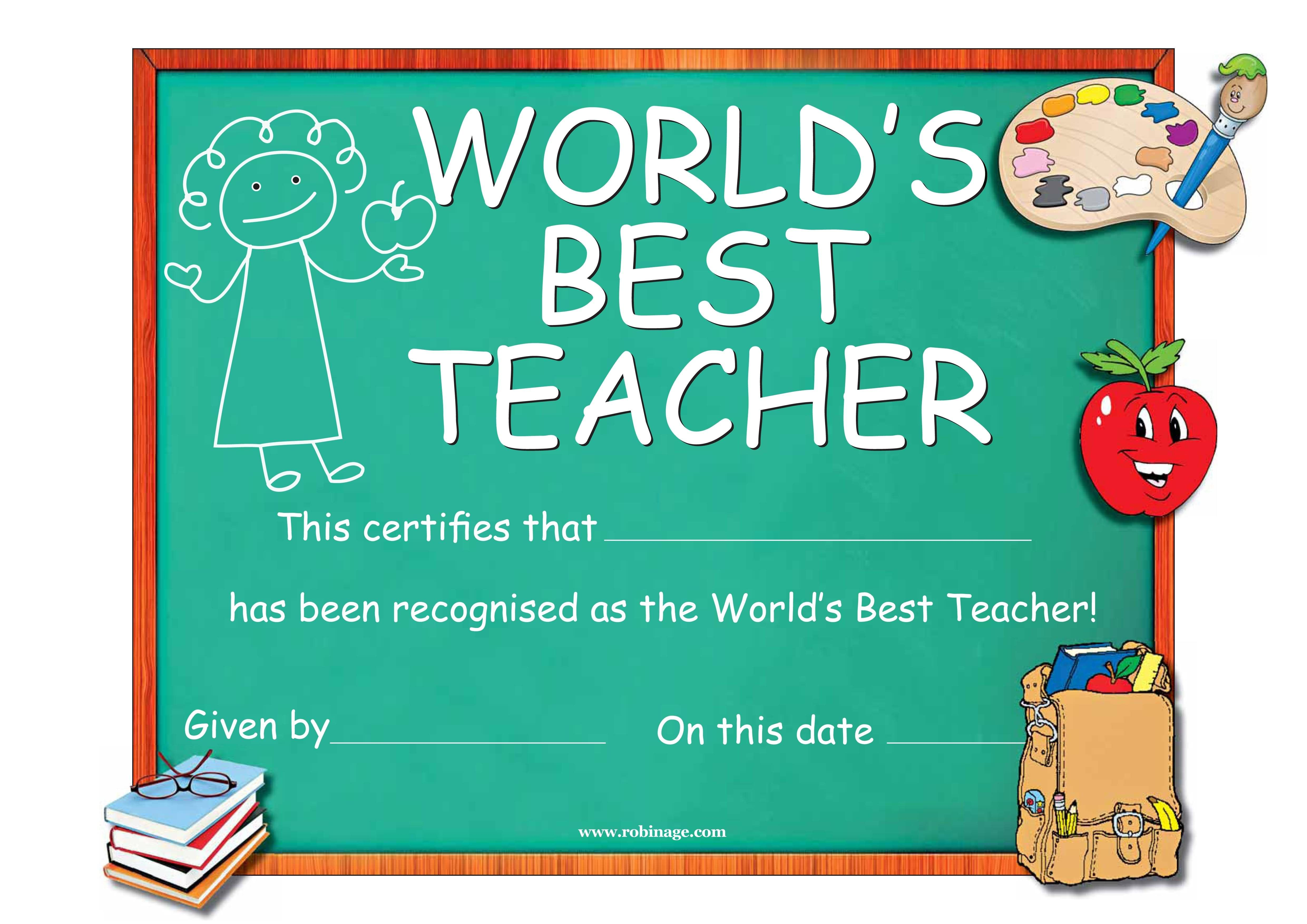 world teacher's day means we as teachers are recognized