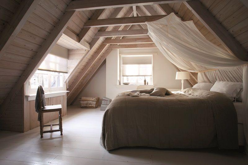Slaapkamer Inspiratie Hout : Puurwonen plisségordijnen slaapkamer hout raamdecoratie bece